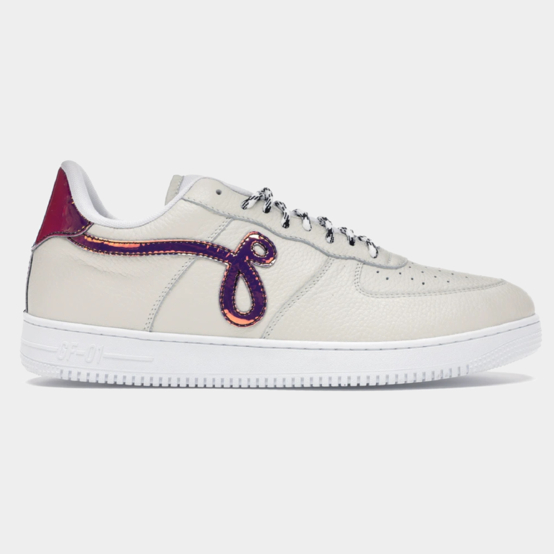 """GF-01 """"Off White Pebbled Leather"""""""