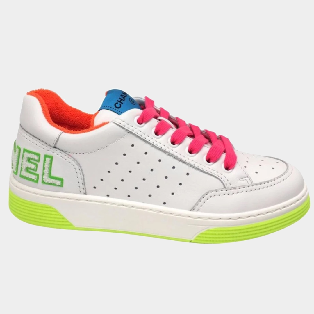 Chanel White & Neon Trainers