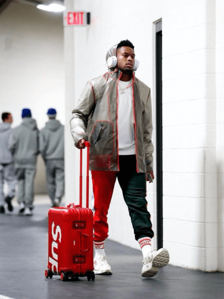 juju-smith-schuster-with-a-drippy-fit-and-supreme-suitcase