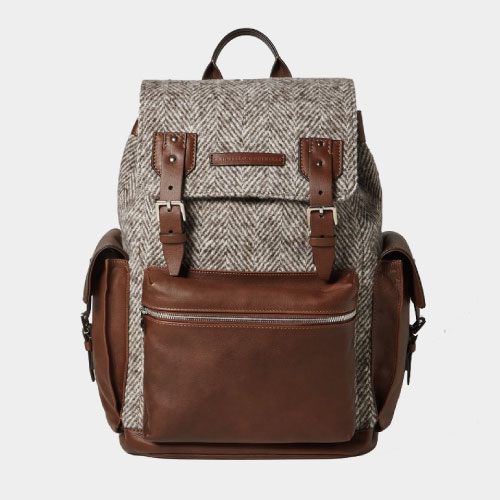 Brunello Cucinelli Two-Tone Backpack