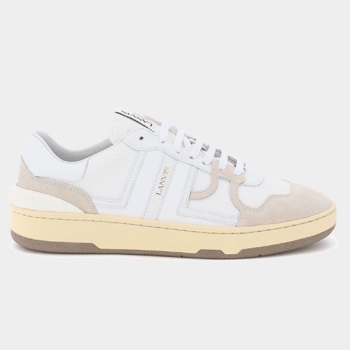 Lanvin White Leather Clay Low Sneakers