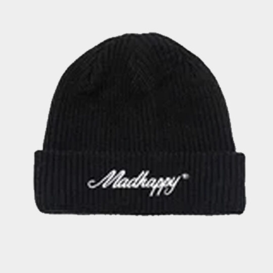 Mad Happy knitted beanie