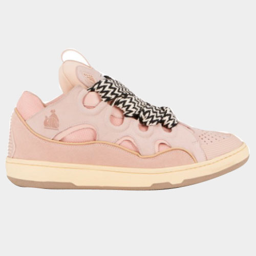 Lanvin LEATHER CURB SNEAKERS - PINK