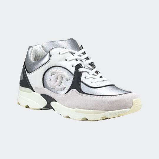 Chanel suede calfskin cc sneakers