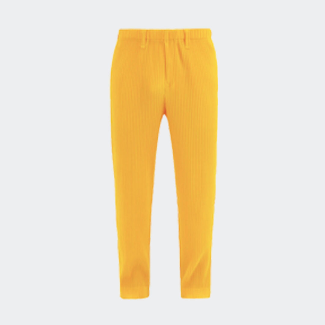 Homme Plisse Issey Miyake Trousers - Yellow