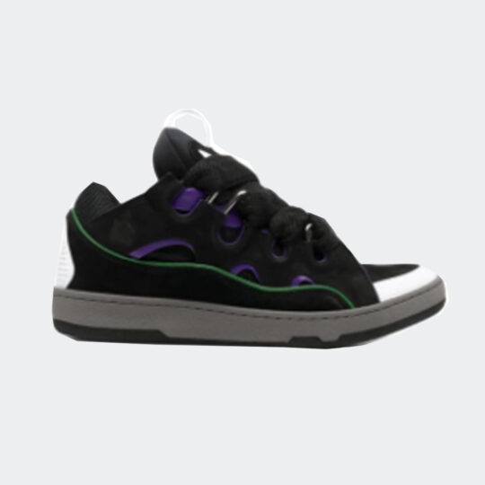 Lanvin curb chunky low-top sneakers in black