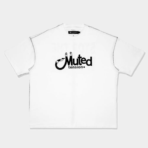Muted Tension Stop The Violence T-Shirt (White)