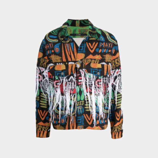 Song for the Mute patterned jacquard jacket