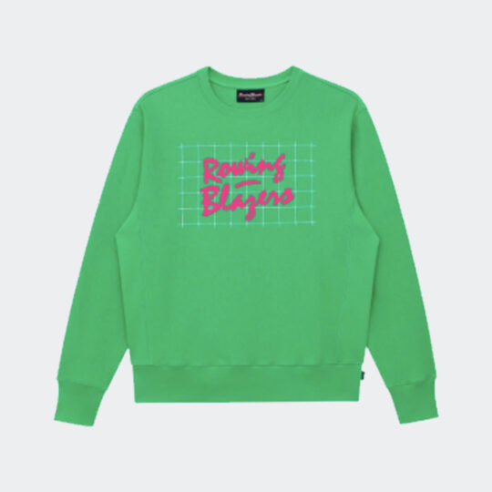 Rowing Blazers '90s green and pink crewneck