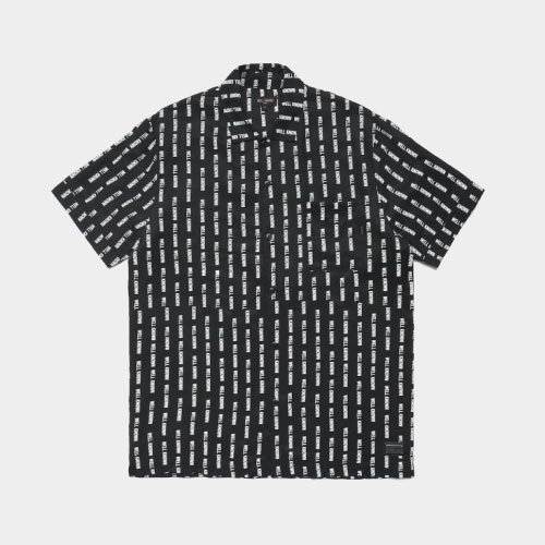 The Wooster Button Up Shirt - Striped Black