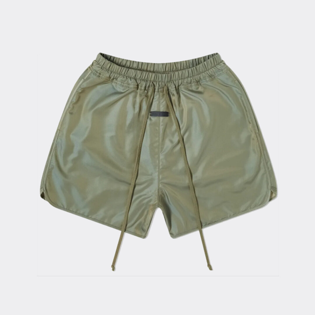 Fear of God Track Short in Green Iridescent
