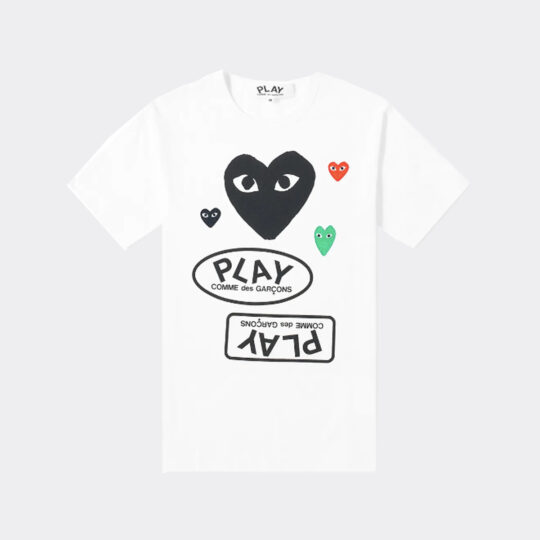 Comme Des Garcons Play Multi Logo Tee