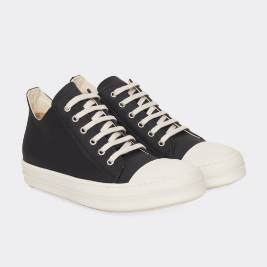Rick Owens Lace-Up Low Top Leather Sneakers