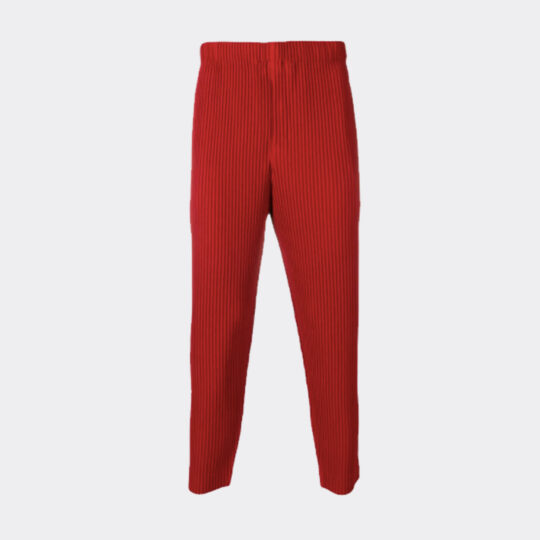 Homme Plissé Issey Miyake Micro Pleated Trousers - Red