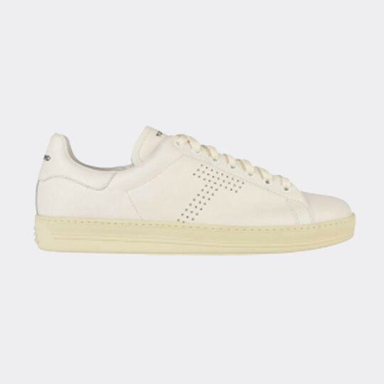 Tom Ford Warwick Leather Trainers - White