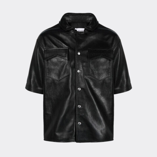 Rhude Leather Snap SS Shirt