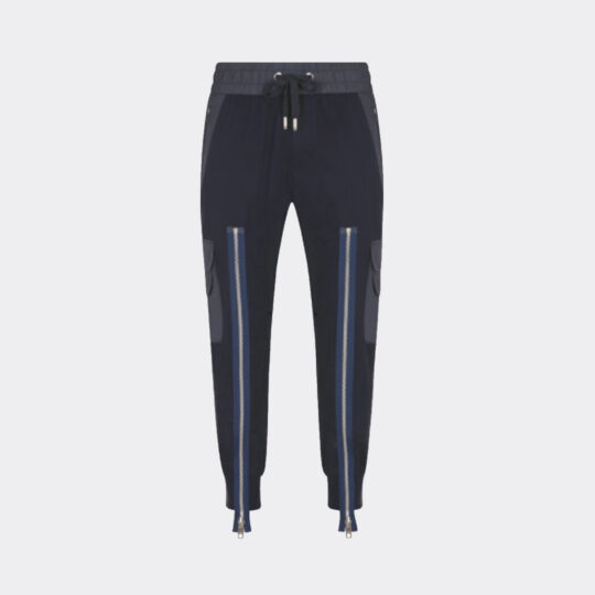 Dolce and Gabbana Two-Tone Jogging Pants with Multiple Pockets