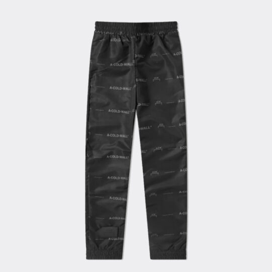 A-Cold-Wall* All Over Print Logo Black Pant