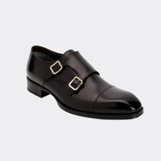 Tom Ford Elkan Double-Monk Leather Loafers
