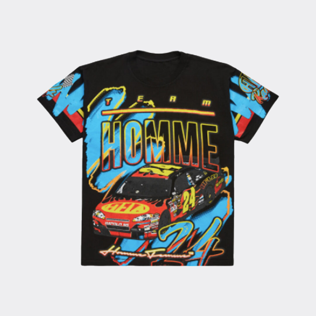 Homme + Femme Racing Team Tee Black with Red Car