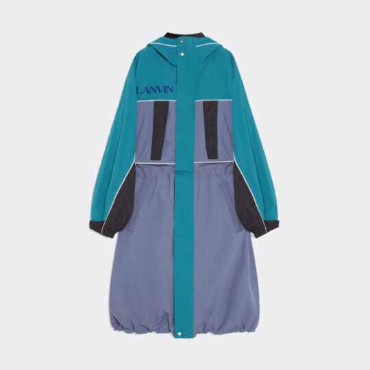 Lanvin Teal and Purple Parka