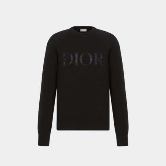 Dior and Peter Doig Black Wool Sweater
