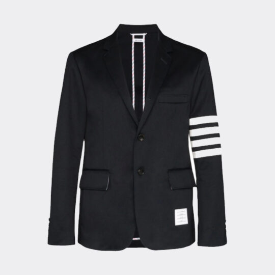 Thom Browne Unconstructed 4-Bar Single-Breasted Blazer