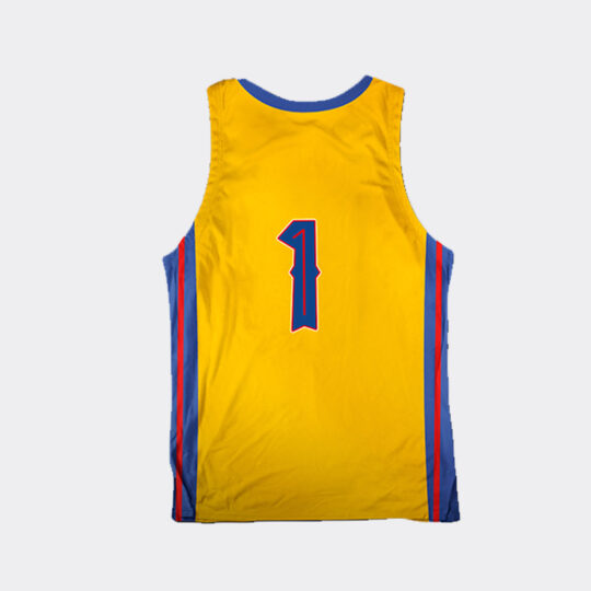 Chibi Dinos Jurassic Jumpers Basketball Jersey - Yellow/Blue/Red